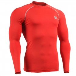 """RED FIX"" Long Sleeve - FIXGEAR Second Skin Technical Compression Shirt ."