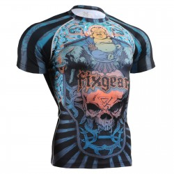 """Laughing Buddha"" FULL Short Sleeve - FIXGEAR Second Skin Technical Compression Shirt - Special MMA Design."