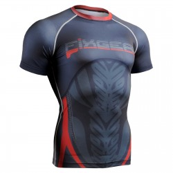 """Icarus"" Short Sleeve - FIXGEAR Second Skin Technical Compression Shirt ."