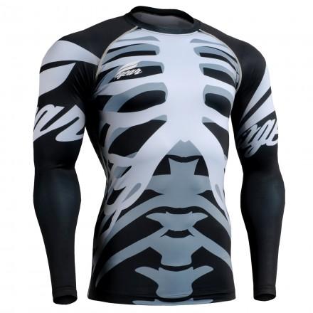 """Bones"" - FIXGEAR Second Skin Technical Compression Shirt ."