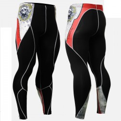"""Thorned Skull"" - FIXGEAR Second Skin Technical Compression Tights ."