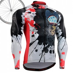 """The Comic"" - FIXGEAR Long Sleeve Cycling Jersey."