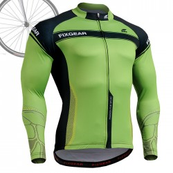 """The Cell"" - FIXGEAR Long Sleeve Cycling Jersey."
