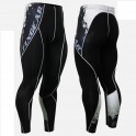 """""""Melted Skulls"""" - FIXGEAR Second Skin Technical Compression Tights ."""