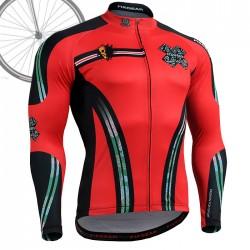 """DEAD RED"" - FIXGEAR Long Sleeve Cycling Jersey."