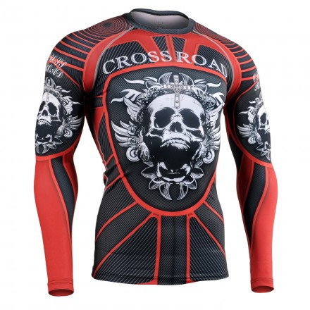 """""""RED ARMOR"""" - FIXGEAR Second Skin Technical Compression Shirt ."""
