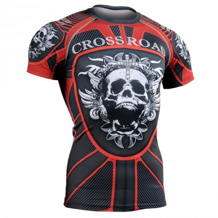 """""""RED ARMOR"""" - FIXGEAR Short Sleeve Technical Compression Shirt ."""