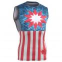 """Americanada"" Sleeveless - FIXGEAR Second Skin Technical Compression Shirt ."