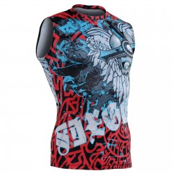 """The Chungo"" Sleeveless - FIXGEAR Second Skin Technical Compression Shirt ."