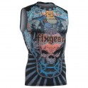"""""""Laughing Buddha"""" Sleeveless - FIXGEAR Second Skin Technical Compression Shirt ."""