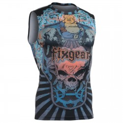 """Laughing Buddha"" Sleeveless - FIXGEAR Second Skin Technical Compression Shirt ."