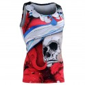 """""""The Skelton"""" Red Tank Top - FIXGEAR Second Skin Technical Compression Shirt ."""