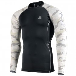 """""""CAMO Y"""" Sleeves - FIXGEAR Second Skin Technical Compression Shirt ."""