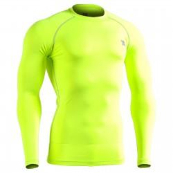 """GREEN FIX FLUOR"" Long Sleeve - FIXGEAR Second Skin Technical Compression Shirt ."