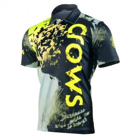 """""""RAVIN DARKNESS"""" - FIXGEAR Short Sleeve 3 Button Casual & Technical Polo"""