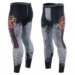 """""""TEARING OUT"""" - FIXGEAR Second Skin Technical Compression Tights ."""